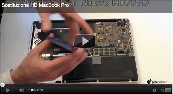 Come sostituire l'Hard Disk su MacBook Pro