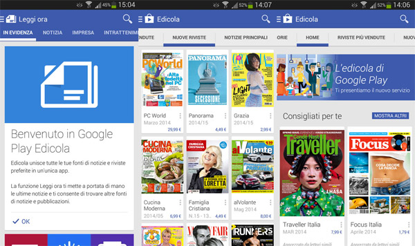 Google lancia in Italia Play Edicola: Quotidiani su Android?