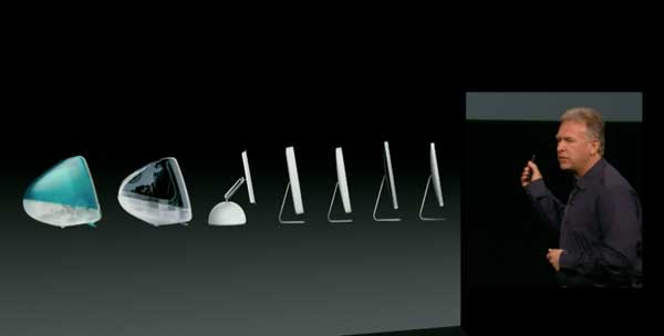 iMac Evolution KeyNote Apple 10 - 23 -2012