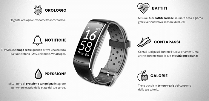 Orologio Smart Intelligente Sport & Fitness